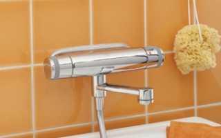 Смеситель с термостатом для ванной с душем – виды и устройство