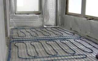 Теплый пол на балконе: типы и устройство