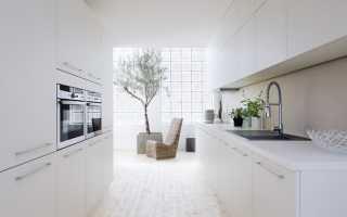 Изысканный дизайн кухонь в белом цвете