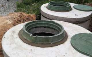 Устройство септика из бетонных колец и схема его монтажа