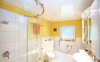 Натяжной потолок в ванной: фото примеры дизайна