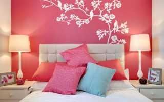 Дизайн интерьера спальни в розовых тонах