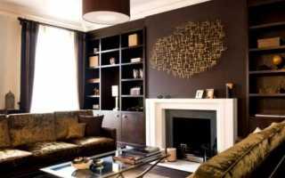 Шоколадная гостиная – фото необычного сочетания в интерьере гостиной