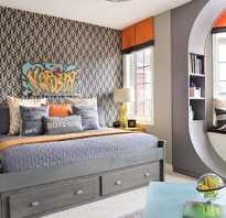 Яркий интерьер комнаты для подростка. фото