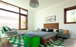 Зеленый цвет в интерьере спальни: дизайнерские концепции и выбор оттенка
