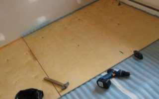 Укладка фанеры на деревянный пол под линолеум своими руками