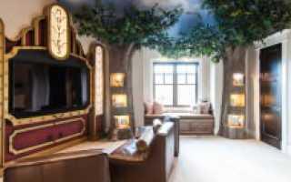 Декоративное дерево в интерьере – 75 фото вариантов дизайна