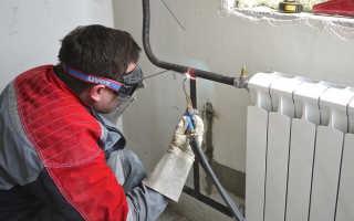 Замена батарей отопления газосваркой — Система отопления