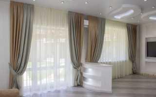Комбинированные шторы своими руками: грамотное сочетание цветов и тканей[Шторы
