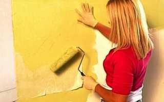 Как красить бумажные обои: инструкция