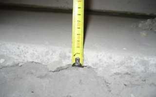Минимальная толщина цементно песчаной стяжки