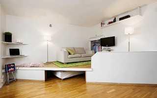 Как можно построить подиум в комнате: разновидности конструкции