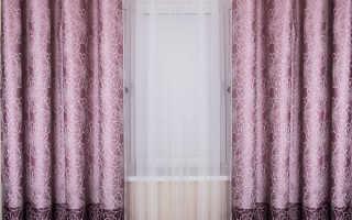 Сиреневые шторы и драпировки в интерьере