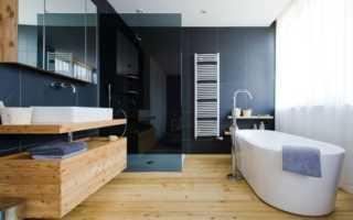 Деревянный пол в ванной комнате: особенности монтажа