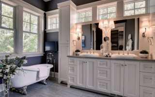 Дизайн ванной комнаты с окном в частном доме: 250 фото
