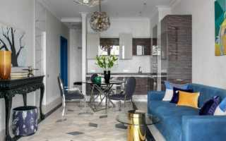 Современные варианты объединения кухни и гостиной комнаты