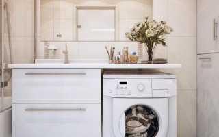 Маленькая стиральная машина в ванной комнате: дизайн интерьера