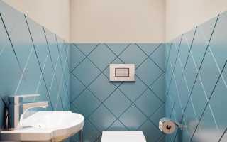 Дизайн туалета, отделанного плиткой