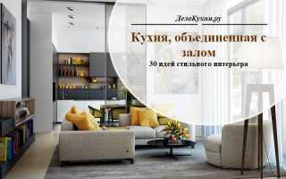 Дизайнерские приемы зонирования кухни, совмещенной с залом