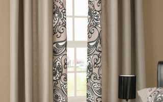 Бежевые шторы в интерьере – признак изысканного вкуса