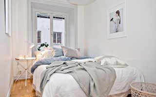 Интерьер для маленькой спальни: антураж, советы по зонированиюидеи (50 фото)