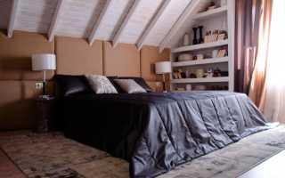 Интерьер мансардной спальни 17 кв. м.