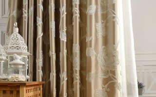 Плотные шторы: основные модели и ткани для их пошива