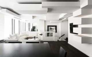 Интерьер черно белый – графика современности (45 фото)
