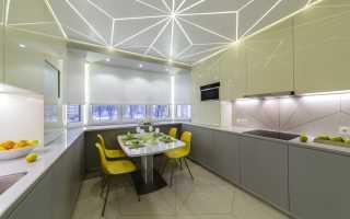 Освещение рабочего стола кухни