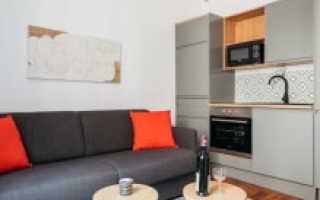 Скандинавский интерьер кухни-гостиной