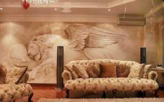Роспись стен в интерьере — виды и техники нанесения изображения
