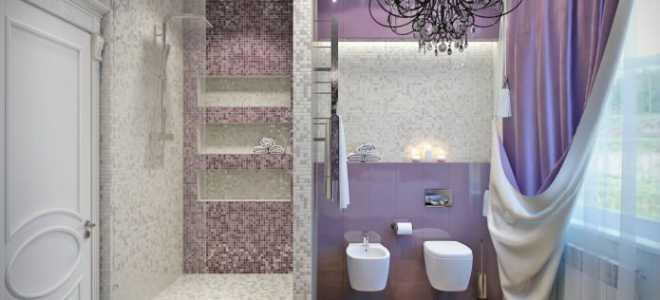 Фиолетовая ванная комната – современный и стильный дизайн