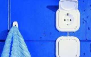 Розетка для стиральной машины в ванной. Высота розетки для стиральной машины