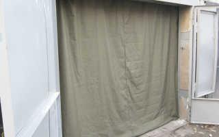 Брезентовые шторы в гараж: преимущества и недостатки конструкций