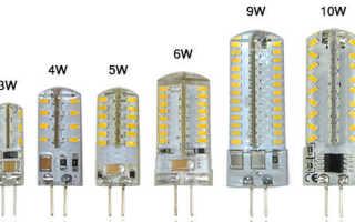 Лампочки светодиодные G4 12V: обзор и виды