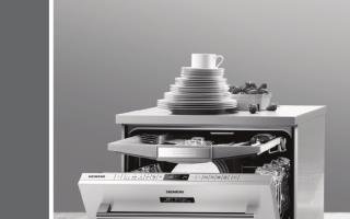 Обзор посудомоечной машины Siemens SR64E003RU: устройство, функции, отзывы