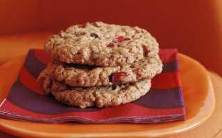 Классическое геркулесовое печенье с медом