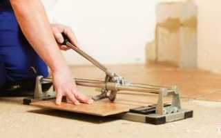 Резка керамической плитки в домашних условиях