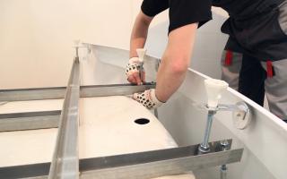 Каркас для акриловой ванны — монтаж и сборка подставки под ванну