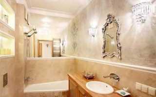 Декоративная штукатурка в ванной — особенности использования[Штукатурка