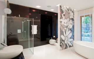 Перегородки в ванной комнате – стильно и функционально