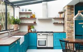 Бирюзовая кухня в интерьере — сочетание с другими цветами (9 оттенков)