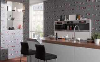 Применение флизелиновых обоев для кухни
