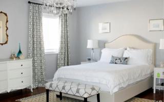 Шторы для спальни: нестандартные решения (38 фото)