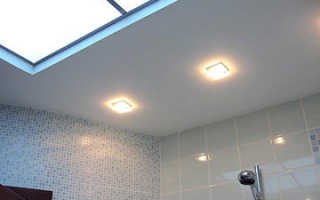 Потолок в ванной из гипсокартона — особенности конструкции