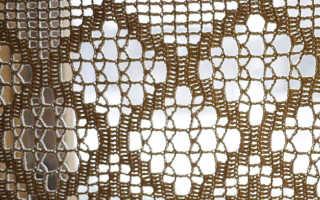 Вязаные шторы крючком для кухни – изящное решение