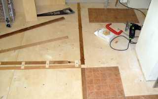Укладка плитки на фанеру на пол — как положить плитку на фанеру