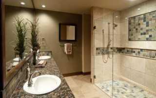 Чем отличается дизайн ванной с душем без поддона?