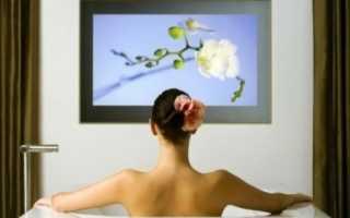 Телевизор для ванной комнаты: как выбрать и установить