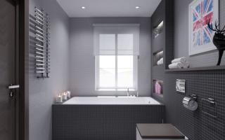 Серая ванная комната – элегантность и сдержанность